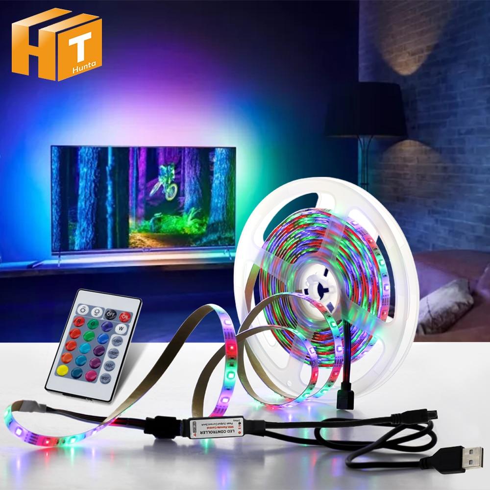 5 В USB Светодиодная лента 1 м 2 м 3 м 4 м 5 м теплый белый/RGB Светодиодная лента 2835 ТВ фоновое освещение декорацион сказочные огни.