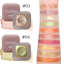 Novo Makeup 10 Color Glitter Eyeshadow Palette Eye Shadow Shine Polarize Sparkling Duochrome Pigment Cosmetics