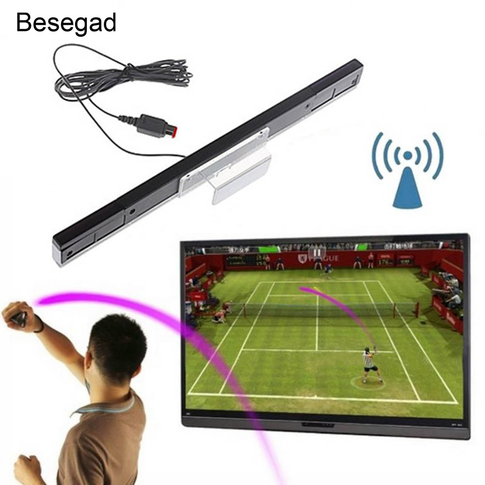 Bevigac Replacement Wired Infrared Ray Remote Sensor Bar Receiver for Nintend Nitend Wii U Consoles Video Game Accessories