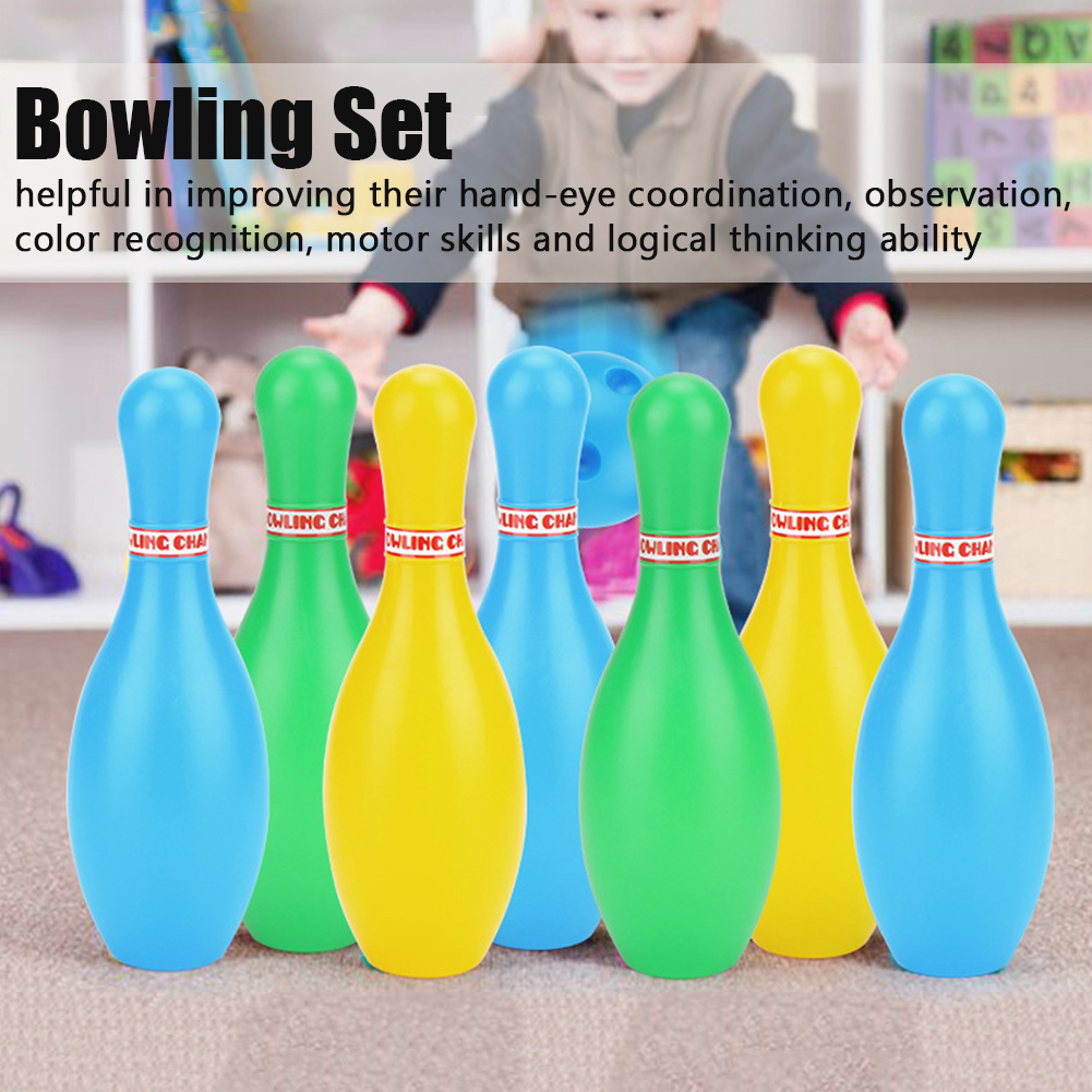 Clearance SaleΘBowling-Set Balls Pins Child 12pcs Games Sport-Toy Parent ABS Early-Learning Educational▄