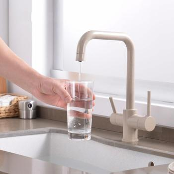 Drinking Water Kitchen Faucet Sink Water connection pure & simple dual-Handle Kitchen Faucet with pure water filter tube