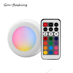 Wireless LED Cabinet Light Multicolor Remote Control Dimmable Wardrobe Lamp Battery Operate Night Light For Closet Kitchen Stair