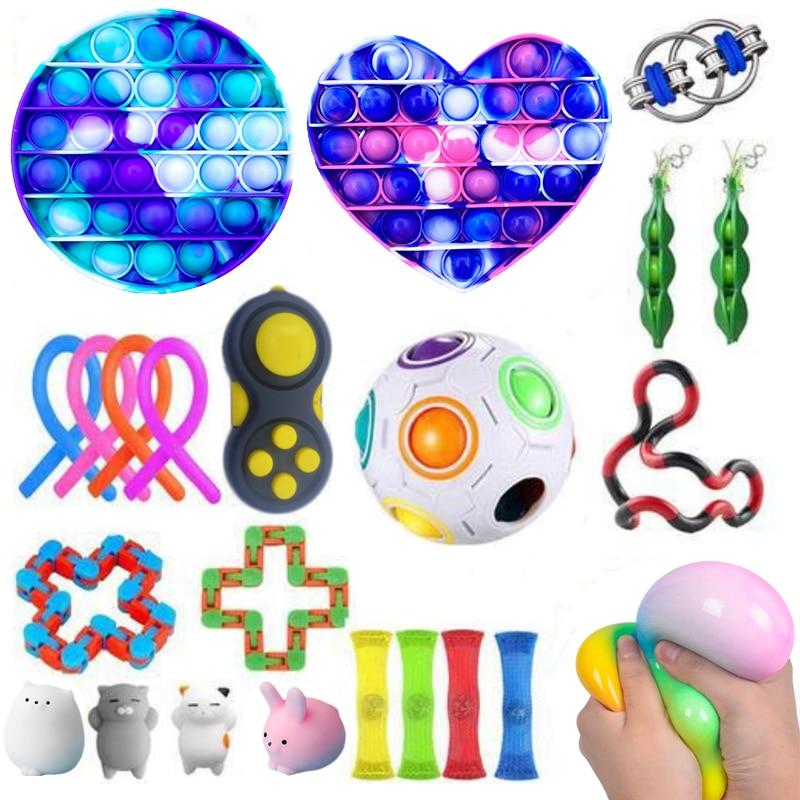 Dropshipping Fidget Toys 20/23/24/27PCS Pack Sensory Toy Set Antistress Relief Autism img2