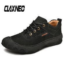 CLAXNEO Man Leather Shoes Design Casual Shoe Male Ankle Boots Genuine Mens Big Size
