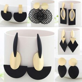 WYBU Geometric Drop Earring For Women Trangle Druzy Earring Bts Gothic Circle Earing Alli Express Jewellery Brincos Bijouterie