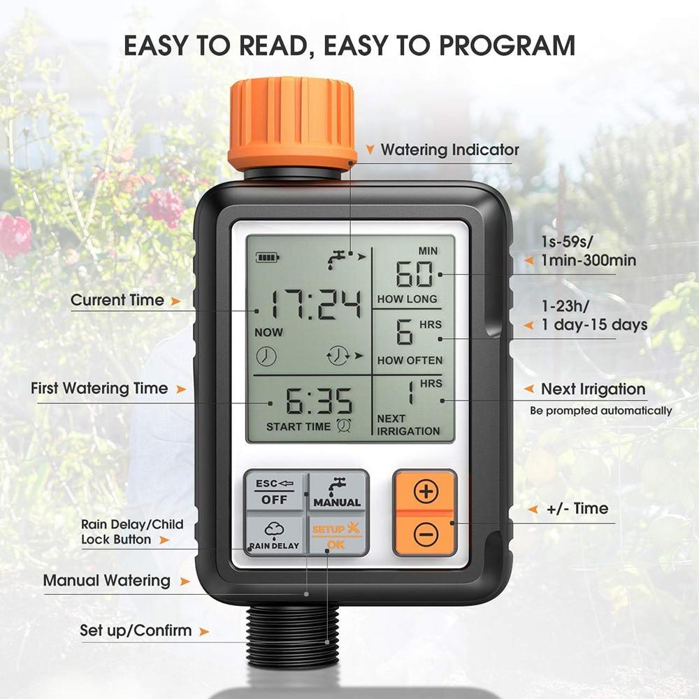 H9484ef83a75549edab2979208446ec1cU 30m Automatic Micro Drip Irrigation System Garden Irrigation Spray Self Watering Kits with Adjustable Dripper