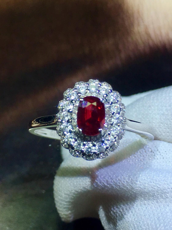 819 روبي خاتم غرامة مجوهرات 18 K الذهب الخالص الطبيعي الأحمر روبي 0.5ct الأحجار الكريمة الإناث الزفاف الماس غرامة خواتم-في خواتم من الإكسسوارات والجواهر على  مجموعة 1