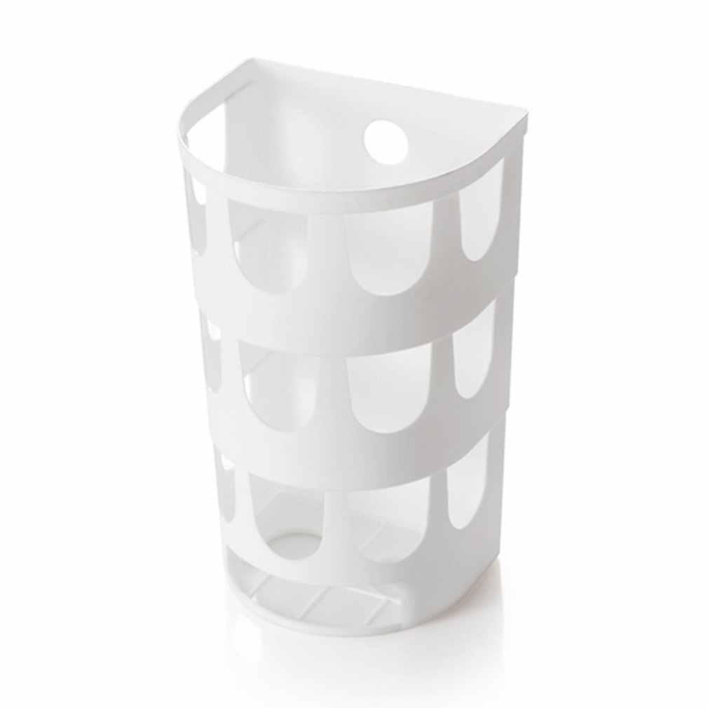 벽 마운트 쓰레기 봉투 컨테이너 플라스틱 스토리지 랙 주최자 부엌 욕실에 대 한 잡화 스토리지 박스