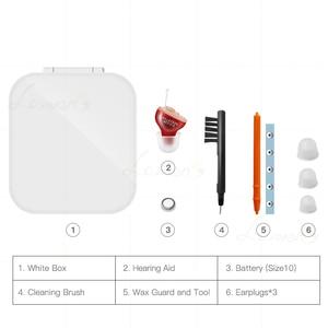 Image 4 - Mini audífono Invisible portátil, dispositivo de ayuda auditiva Invisible, amplificador de sonido de oído izquierdo/derecho, gran oferta