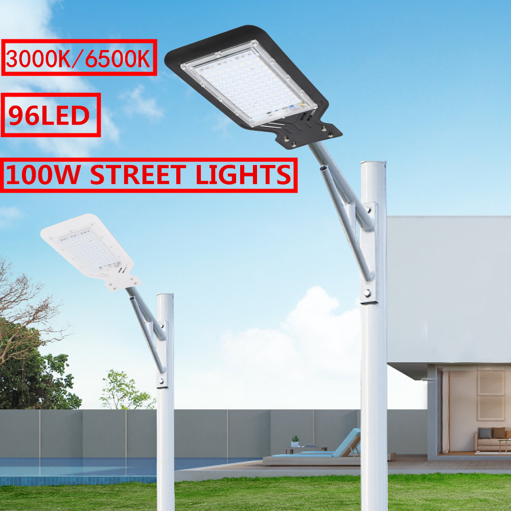 100W 96 LED Street Light 9000LM Outdoor Lighting Garden Yard Wall Highway Parking Lot Security Lamp IP65 Waterproof