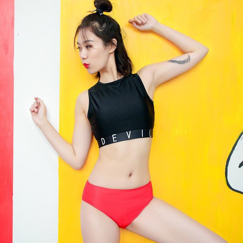 New Style WOMEN'S Swimming Trunks Base Triangular WOMEN'S Swimming Trunks Solid Color Anti-Exposure Briefs Ultra-stretch Swimmin