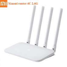 Xiaomi Mi WIFI Router 4C 64 RAM 300Mbps 2.4G 802.11 b/g/n 4 Antennas Band Wireless Routers WiFi Repeater Mihome APP Control