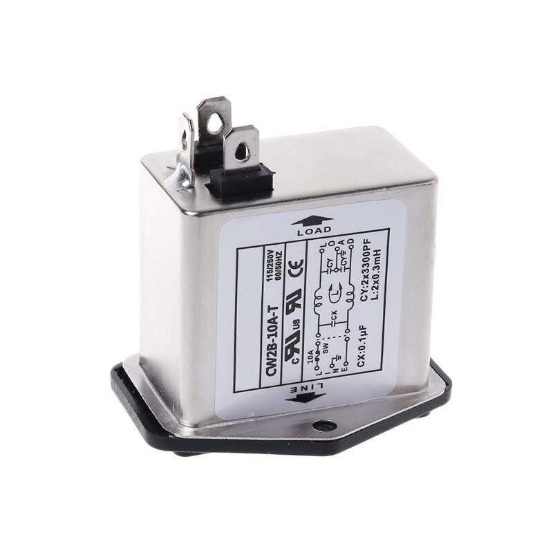 CW2B-10A-T EMI filtre dalimentation monophasé prise ligne-conditionneur ca 115/250V en gros et livraison directe