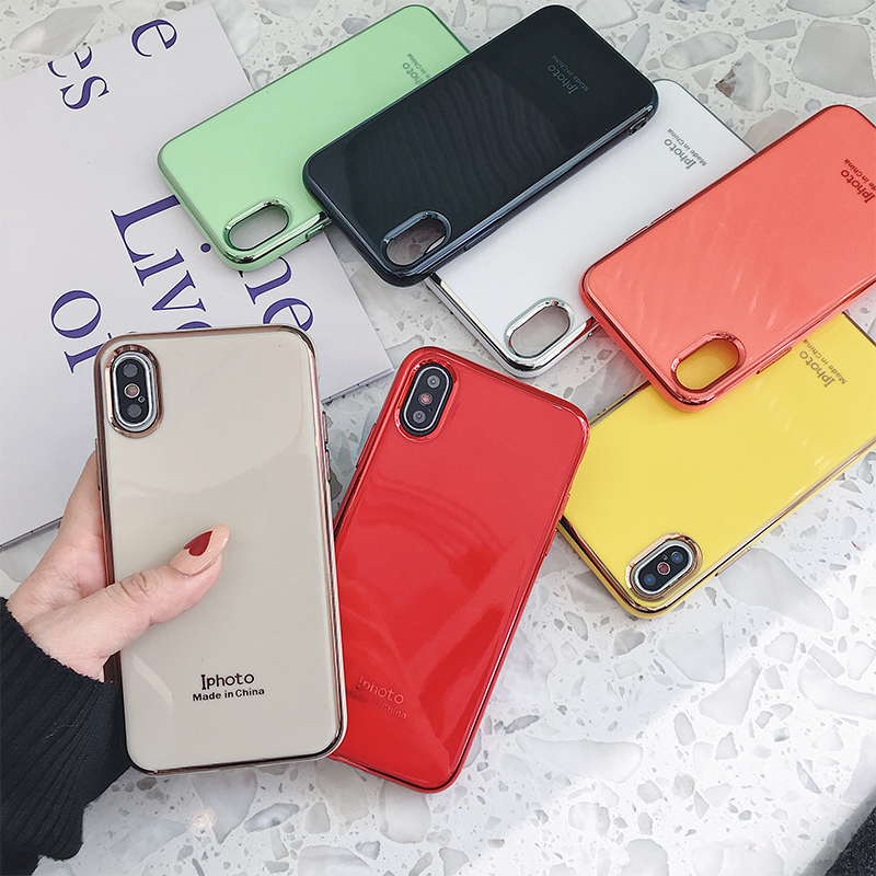 Shockproof Mirror Plating Phone Cases for iPhone XS MAX XR X 10 8 7 6 6s Plus 8Plus 7Plus Soft Silicone TPU Electroplated Cover(China)