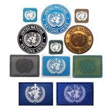 U.N. Badge en Pvc pour militaire tactique Airsoft, Badge à crochet, Brassard de Combat, emblème de l'armée