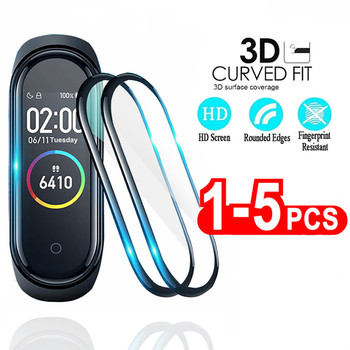 3D Protective Film for Xiaomi mi band 4 film for Mi band 5 Smart Watchband Full Cover Soft Screen Protector miband 4 5 Film 5pcs full cover screen protector film on for xiaomi mi band 4 5 smart wristband bracelet protective glass films for mi band 4 5