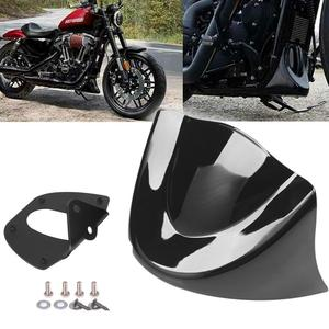 New Gloss/Matte Black Motorcycle Lower Front Chin Spoiler Air Dam Fairing Cover For Harley Dyna Fat Bob Models 2006-2018(China)