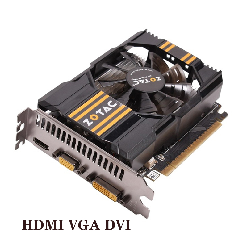 Original ZOTAC Video Card GeForce GT630 2GB 128Bit Graphics Cards GPU Map For NVIDIA GT630 2GD3 HDMI DVI VGA 2