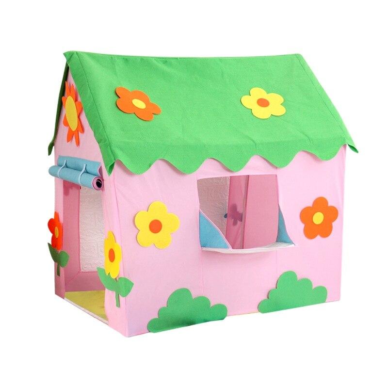 Домик игровой детский складной, портативная палатка для девочек, комнатный и уличный сад, бассейн для шаров, игровой домик