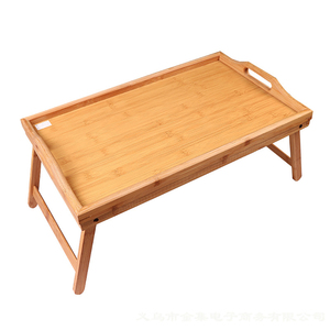 Image 1 - Foldable Breakfast Lap Tray Home Reading Laptop Desk Drawing Wood Bed Table Solid Serving Kids Portable Multipurpose