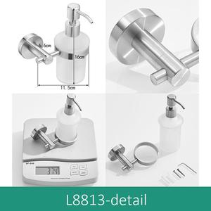 Image 3 - ห้องน้ำ Liquid SOAP Dispenser ติดผนัง 304 สแตนเลสแปรง Bickel สำเร็จรูปแชมพูสบู่ ML9313