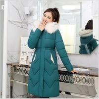 Casual Warm Long Parka Women 2019 Full Sleeve Thick Padded Jacket Hooded Pockets Woman Winter Coats and Jackets F67