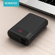 ROMOSS Ares 10 Mini 10000 mAh Power Bank podwójny USB Powerbank 10000 mAh przenośna zewnętrzna ładowarka do iPhone Xiaomi tanie tanio Bateria litowo-polimerowa Rok wybudowania kable Cyfrowy wyświetlacz 10000mAh Do tabletu Do smartfona CN (pochodzenie) Micro Usb