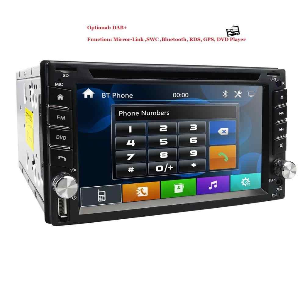 Araba radyo GPS DVD SAT NAV BLUETOOTH USB TV NISSAN NAVARA için D40 X-TRAIL XTRAIL direksiyon kontrolü RDS 2DIN araba monitör DAB +