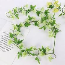 Праздничное и Свадебное украшение, имитация гортензии, лоза, растение, на стену, для фотосъемки, декоративный цветок, лоза, украшение для дома