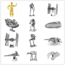Star Wars 3d Metal Puzzles Jigsaw DIY Assembly C3PO Model Collectible Stereoscopic Puzzle Toys 3d metal puzzles for children adult model kids toys for children jigsaw star wars c3po metal puzzle educational toys gifts