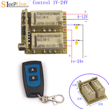 4V 6V 9V 12V Mini 2CH Relay Remote Switch Micro Wireless Switch Relay Receiver 4 12V 2 Channel Relay ON OFF Wireless Control