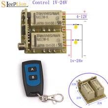 4V 6V 9V 12V Mini 2CH Tiếp Remote Không Dây Chuyển Tiếp Đầu Thu 4  12V Relay 2 Kênh Vào Tắt Điều Khiển Không Dây