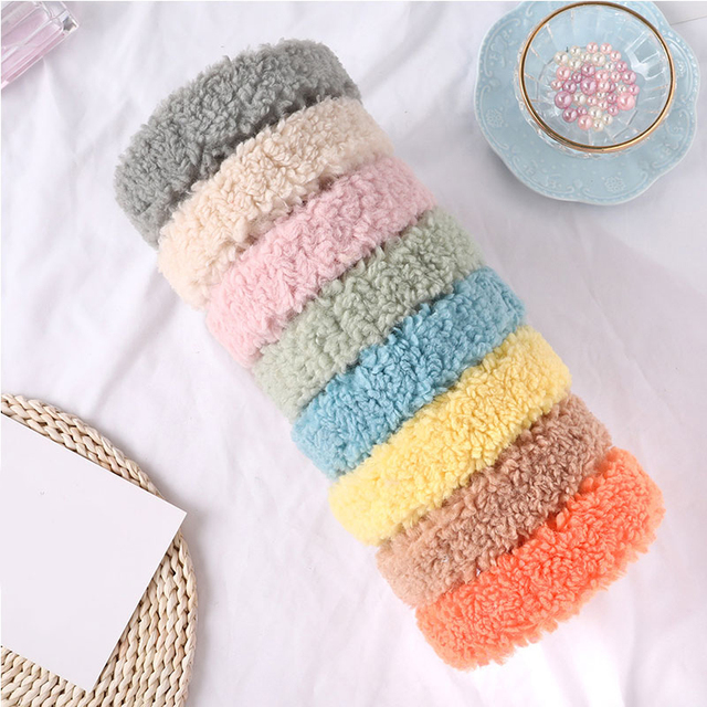 Fashion Faux Fur Headband For Women Thicken Plush Wide Hair Hoop Autumn Winter Warm Hair Bands For Girls New Hair Accessories