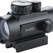 Тактический 1x40 мм рефлекторный Красный Зеленая точка зрения прицел с бесплатной 20 мм крепление рельсы