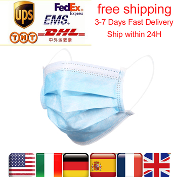 Z nami ES magazynie 24H wysyłka 50-200 pcs jednorazowe respirator maska z filtrem 3-ply miękkie oddychające ochronne mascarillas masque tanie i dobre opinie KKMOON NONE Chin kontynentalnych Face Mask Disposable