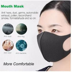 5 sztuk/1 sztuk czarna Maska Maska przeciwpyłowa na usta maski na twarz Anime Mascaras Pm2.5 anti-Fog usta Maska Unisex ochrona podróży 2