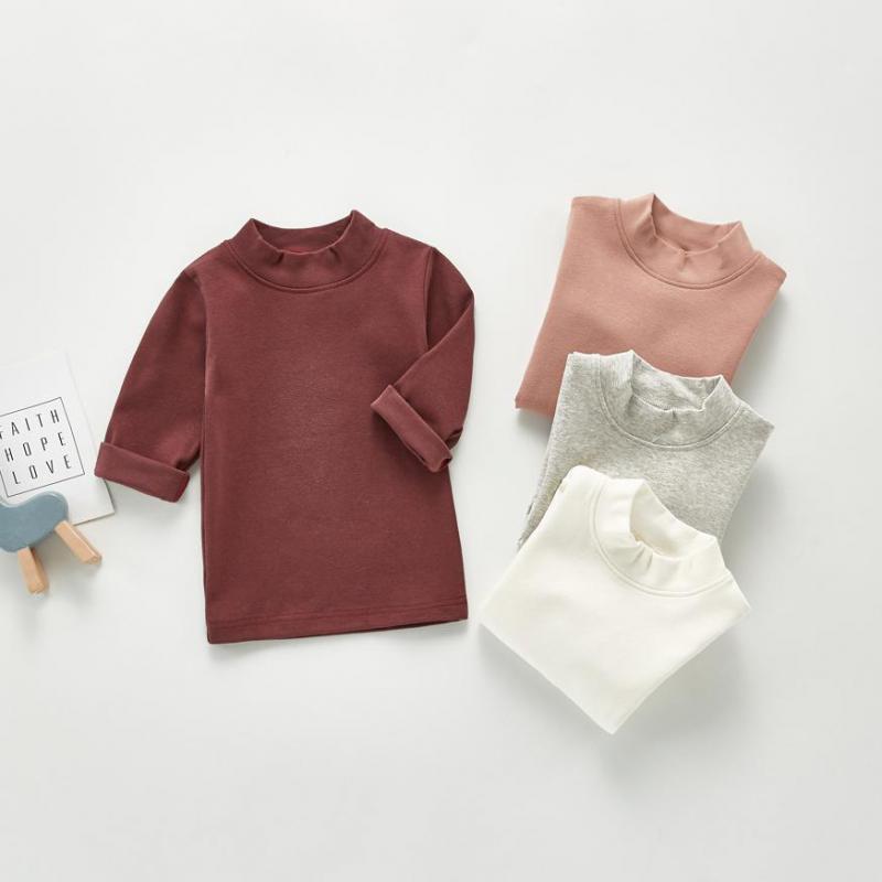 2020 Baby Autumn Clothing Newborn Baby Boy Girl Long Sleeve Tops T-shirt Baby Clothes Kids Solid Sweatshirts 1