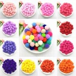 15mm pompom bola redonda pompones diy artesanato pompons macios costura scrapbooking diy brinquedo homeade decoração do casamento suprimentos 20g