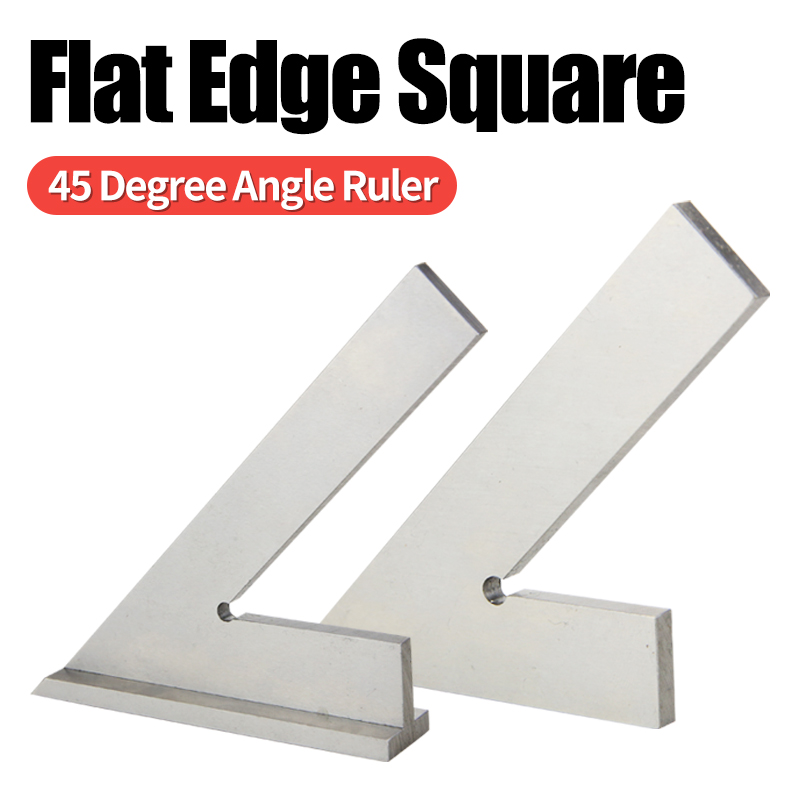45 Degree Flat Edge Square Measuring Multi Angle Try Square Base Set Square Ruler Gauge Tool Squads Machinist Square With Base