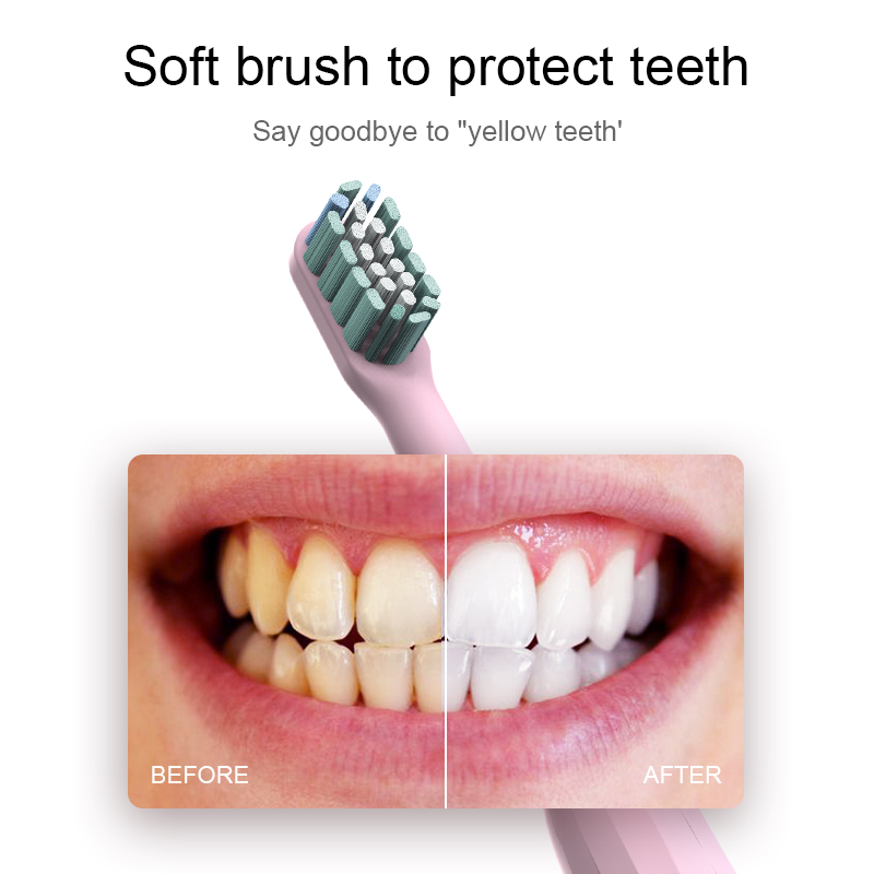Electric Toothbrush Rechargeable 40000time/min Ultrasonic Washable Electronic Whitening Waterproof Adult Teeth Brush For Family