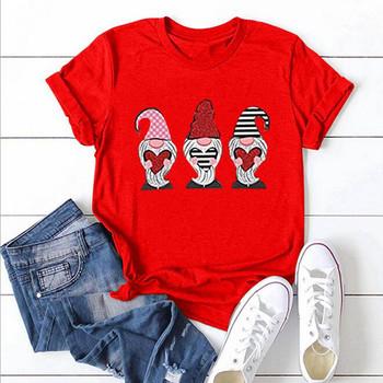 T-shirty damskie T-shirt dla dziewczynek Oversize t-shirty damskie Top odzież damska koszulka walentynkowa Love wydrukowano krótki rękaw tanie i dobre opinie CN (pochodzenie) Lato POLIESTER NONE SHORT REGULAR Z dzianiny Women s t-shirts Na co dzień Dla osób w wieku 18-35 lat