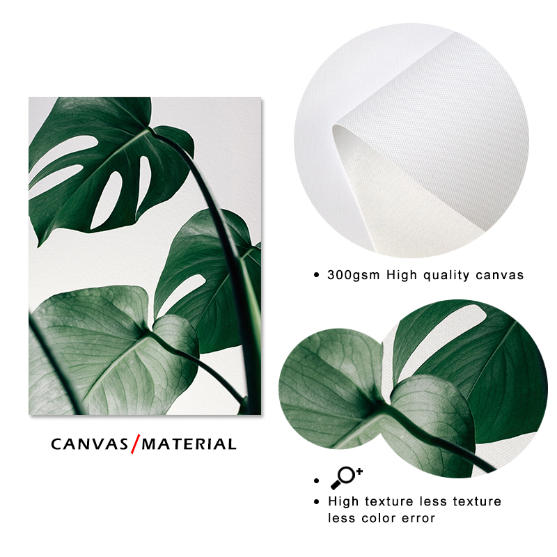 H9487520274ca454da0cd481720967fefT ART ZONE Nordic Canvas Painting Modern Prints Plant Leaf Art Posters Prints Green Art Wall Pictures Living Room Unframed Poster