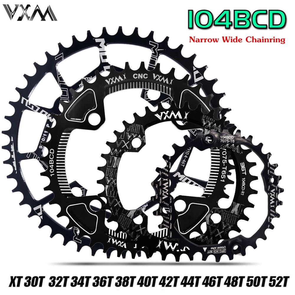 104BCD 30T Round Chainring Sprocket MTB Mountain Bike Bicycle Narrow Chainwheel