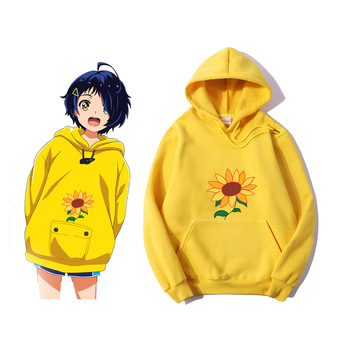 Wonder Egg Priority Ai Kawaii Hoodie Aesthetic Sun Flower Pocket Same Paragraph Casual Loose Sweatshirts Anime Carton Cute Print 1