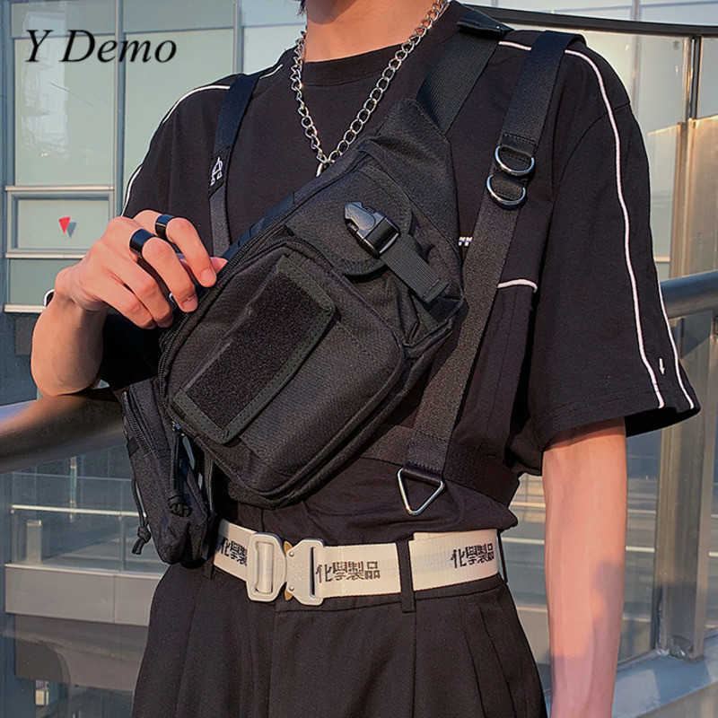 Streetwear Hiphop Casual Unisex Pockets Buckle Chest Bag