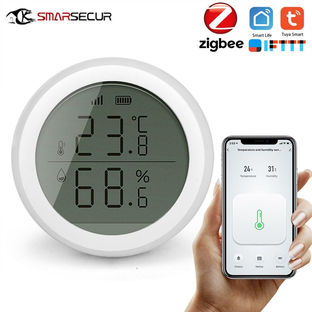 Умный дом Tuya Zigbee датчик температуры и влажности Высокая точность T & H датчик работы с шлюзом концентратор с дисплеем