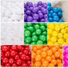 7CM/50PCS Eco-Friendly Colorful Ball Pits Soft Plastic Ocean Ball Transparent Water Ocean Wave Ball Toys For Children Kid Baby