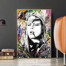 Brigitte bardot Абстрактное Искусство граффити холст картина