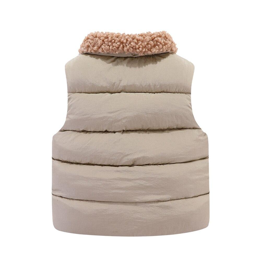Mudkingdom Kids Jacket Vest Autumn Winter Sleeveless Wool Lapel Colar Children Outerwear 2