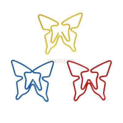20pcs Flower Butterfly Cartoon Animal Paper Clip Bookmark Creative Safety Pin Shaped Pin Cute Colorful Paper Clip